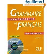Grammaire progressive du français : Avec 400 exercices, niveau débutant (1Cédérom)