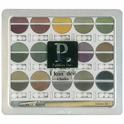 Pebbles Inc. I Kan'dee Chalk Set, Earth Tones