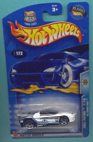 Hot Wheels 2003 1:64 Scale Roll Patrol Black & White 40 Something Die Cast Police Car #172 - 1