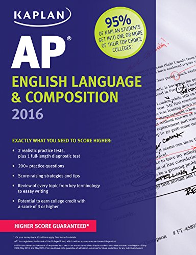 Kaplan AP English Language & Composition 2016 (Kaplan Test Prep) (Advance Composition compare prices)