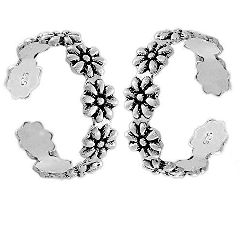 Flowery Engraving Silver Toering/Bichudi Jewelry-15852