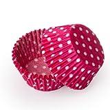 Dress My Cupcake Mini Pink Polka Dot Cupcake Liners BULK - 500 Liners - Valentine Cupcakes Stands Baking Cups