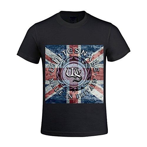 Whitesnake-Made-in-Britain-World-Record-Men-Shirt-Round-Neck-Cool