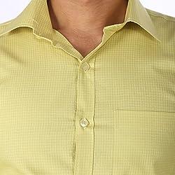 Regza Men's Formal Shirt (RZA_Light Green_40)