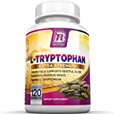BRI Nutrition L-Tryptophan - 1500mg Servings - 120 Count of L Tryptophan - 500 mg per Veggie Capsules