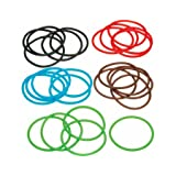 Kitchen Craft KCSILBAND Kitchen Craft Silicone Cooking Bands 25 Pieces Assorted Coloursby Kitchen Craft