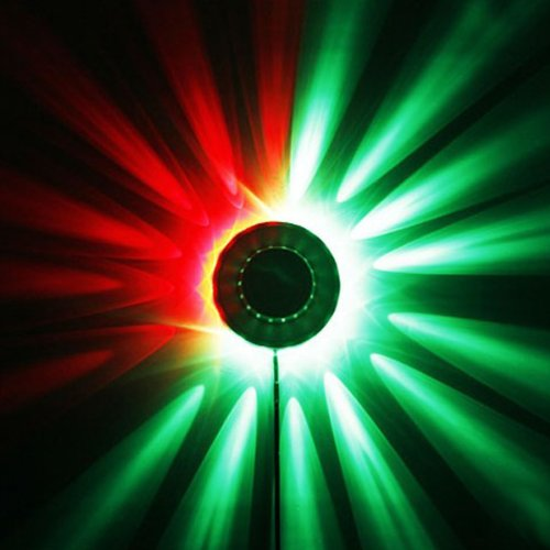 Black 8W 48 Led Auto Voice-Activated Rgb Xmas Party Disco Dj Stage Lighting By 24/7 Store