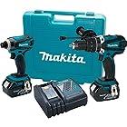 Makita XT218 18V LXT Lithium-Ion Cordless Combo Kit, 2-Piece