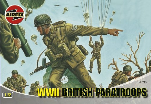 Airfix A01723 1:72 Scale WWII British Paratroops Figures Classic Kit Series 1