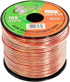 Pyramid RSW18100 18 Gauge 100 Feet Spool of High Quality Speaker Zip Wire