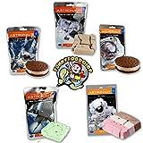 Astronaut Ice Cream Neapolitan, Mint, Cookies & Cream, Sandwich and Chocolate Chip Freeze Dried Food
