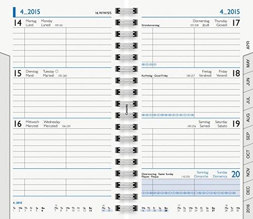 Brunnen Kalender-Einlage 2014, Mod. 756, 8,7 x 15,3 cm, Wire-O-Bindung