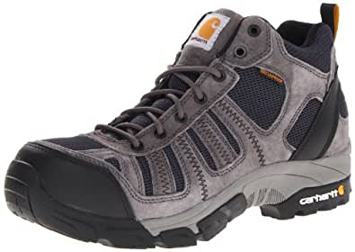 Carhartt Men's CMH4375 Composite Toe Hiking Boot,Grey Suede/Navy Nylon,8 M US