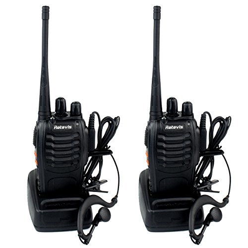 Retevis H-777 Walkie Talkie Ricetrasmettitore UHF 400-470MHz 16 Canali  Ricetrasmittente con Auricolare(2 pezzi)