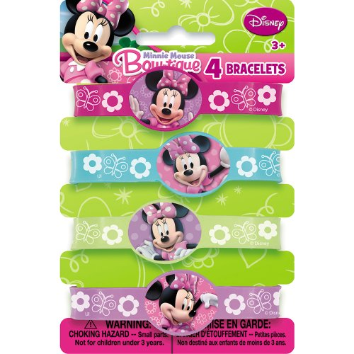 Buy Bargain Minnie Mouse Rubber Bracelets, 4ct