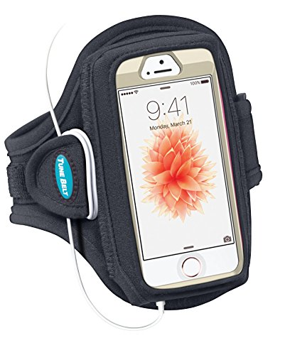 Armband for iPhone SE, 5, 5s, 5c, 4, 4S with OtterBox Defender, Commuter or Other Large Case - Great for Running, Workouts & Exercise [Black] (Iphone 4 Belt Holder compare prices)