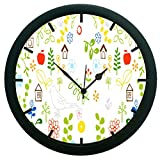 meSleep Bird Houses Wall Clock (With Glass)