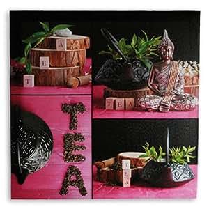 Amazon.com - Cuadro Lino Buda Tea 50 x 50 -