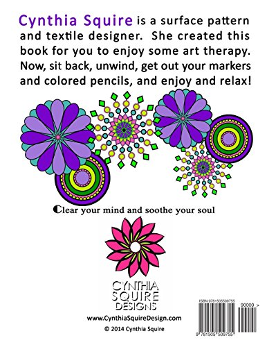 Mandalas, Patterns & Designs: Art Therapy Coloring Book: Volume 1