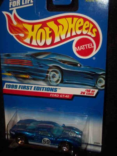 1999 First Editions -#16 Ford GT-40 Regular Rear Wheel #921 Mint - 1