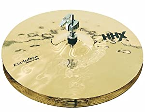 Sabian 14-Inch HHX Evolution Hi-Hat Brilliant Finish Cymbals