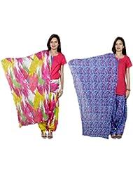 Indistar Women's Cotton Patiala Salwar With Dupatta Combo (Pack Of 2 Salwar With Dupatta) - B01HRK9SCG