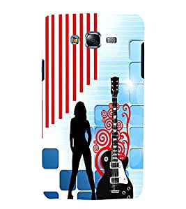 printtech Guitar Girl Design Back Case Cover for Samsung Galaxy J1 (2016) / Versions: J120F (Global); Galaxy Express 3 J120A (AT&T); J120H, J120M, J120M, J120T Also known as Samsung Galaxy J1 (2016) Duos with dual-SIM card slots