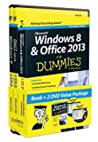 img - for Windows 8 and Office 2013 For Dummies, Book + 2 DVD Bundle (For Dummies (Computer/Tech)) book / textbook / text book