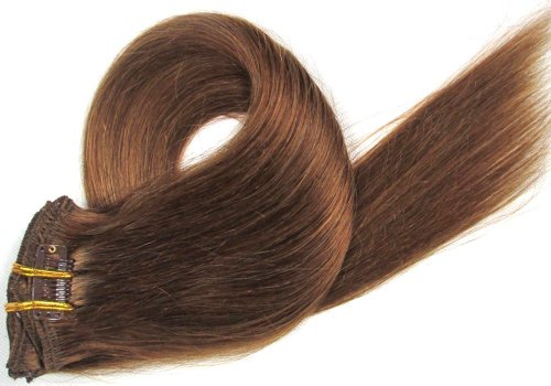 20 Inch 7Pcs Remy Clips In Human Hair Extensions 70Gr With Clips For Highlight Or Full Head