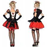 不思議の国のアリス 女王様衣装セット (ワンピース、髪飾り、手袋、バッジ 1点) コスチューム レディース フリーサイズ