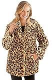 Collections Etc Women's Faux Fur Leopard Shawl Collar Jacket