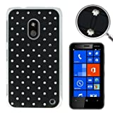 Rocina Case for Nokia Lumia 620 Black with Diamond Bling Design