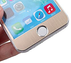 Kapa Metal Alloy Anti Burst Tempered Glass Screen Guard Protector for iphone 4 4S - Gold
