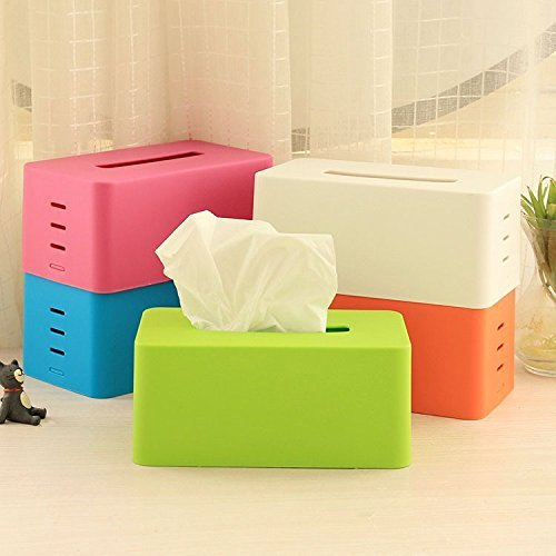 Fashion Candy Fashion Candy Color Tissue Box Holder for House & Car Adjustable Lifting Stepped Napkin Box Free Shipping
