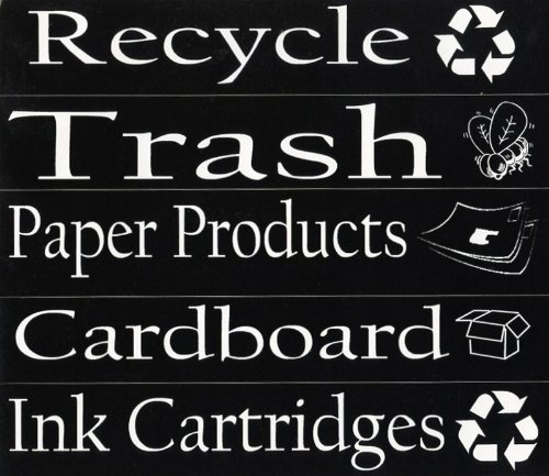 Image of Recycling Stickers - 5 Pack for the Office