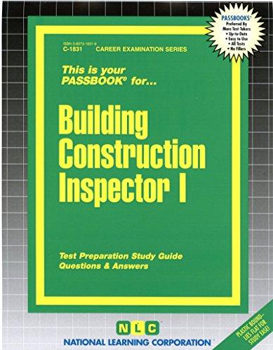 Building Construction Inspector I(Passbooks)