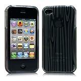 iPhone 4 ケース ソフト TPU ゼブラ模様  グレー 液晶保護フィルム USB充電ケーブル付