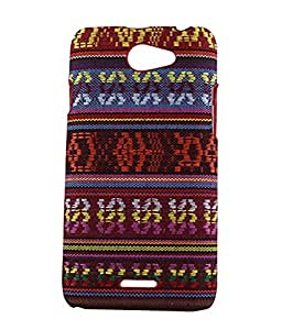 Exclusive Hard Back Case Cover For HTC Desire 516 - Multicolor Craft Design