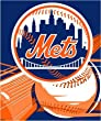 New York Mets Royal Plusch Raschel Throw Blanket - MLB Baseball Fan Shop Sports Team Merchandise