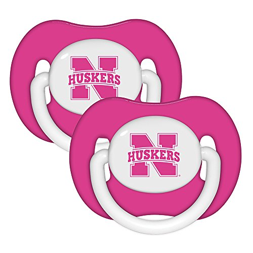 Baby Fanatic Pacifier (2 Pack) - University of Nebraska Pink - 1