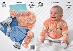 King Cole Knitting Patterns To Download : Amazon.com: King Cole Double Knitting Pattern Babies Splash DK Knitted Sweate...