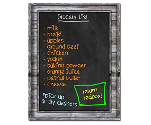 Smart Planner: Black Dry Erase Refrigerator Magnetic Chalkboard Design | Use Horizontal or Vertical as a Weekly Planner for Important Calendar Dates. Meal, Grocery, To Do or Chore List Magnet. (Mini Whiteboard For Fridge compare prices)