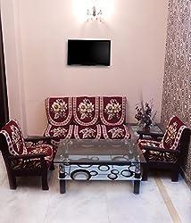 SHC Sofa Slip Cover (SSC_GOLDLILYMRN001) - Maroon