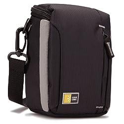 Case Logic Compact Camcorder / High Zoom Camera Case - - Dobby Nylon - Black - Black