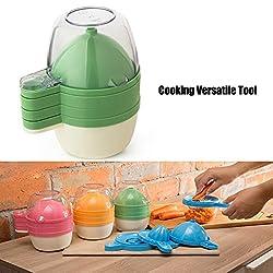 6Pcs Cooking Versatile Tool Grinder Juice Cup Separator Funnel