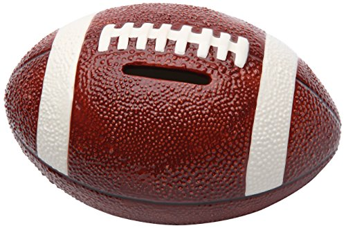 Cosmos 10511 Fine Porcelain Football Piggy Bank, 3-1/2-Inch