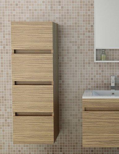 Bathroom Cabinet Kufstein in dark wood