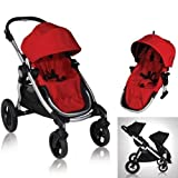 Baby Jogger City Select Stroller with 2nd Seat Ruby