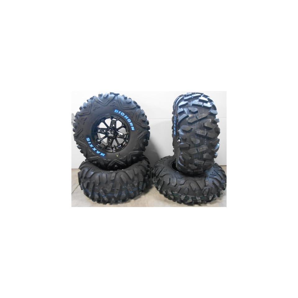 "MSA Elixir 12"" Wheels Black 27"" BigHorn Tires Kawasaki Teryx Mule Automotive"