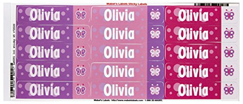 Mabel'S Labels 40845185 Peel And Stick Personalized Labels With The Name Olivia And Butterfly Icon, 45-Count front-942663